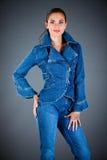 Jeansansammlungskleidung lizenzfreies stockbild