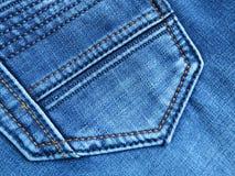Jeansbakgrund: grov bomullstvillfack - materielfoto Royaltyfri Bild