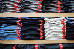 jeansbunt Arkivbilder