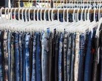 Jeansdenim für das Design und den Hintergrund Lizenzfreies Stockbild
