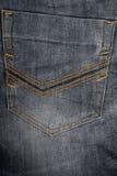 Jeansdenimdetail-Gesäßtaschehintergrund Lizenzfreie Stockbilder