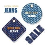Jeansetiketter Royaltyfri Fotografi