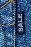 Jeansförsäljning Arkivfoto