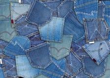 jeansfack Royaltyfria Bilder