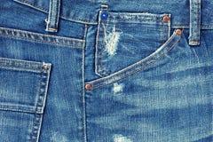 jeansfack Arkivfoto