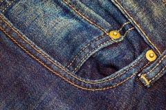 Jeansfack för bakgrund Fotografering för Bildbyråer