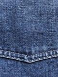 Jeanshintergrund mit Eckjoch und dem doppelten Nähen lizenzfreies stockbild