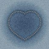 Jeanshjärta Arkivfoton