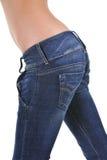 jeanskvinna Arkivbild