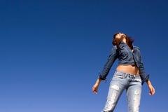 jeanskvinna Arkivfoton