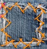 jeanslapp royaltyfria bilder
