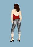 Jeansmädchen Lizenzfreies Stockbild