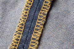 Jeansmateriaal Royalty-vrije Stock Afbeeldingen