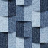Jeanspatroon - naadloze achtergrond - decoratieve textuur stock illustratie