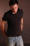 jeanspoloskjorta Royaltyfri Foto