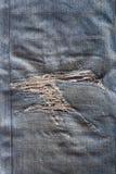 Jeansreparaturen sind künstlerisch Lizenzfreie Stockfotografie