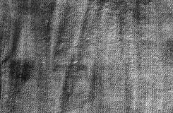 Jeansstoffmuster in Schwarzweiss stockfotos