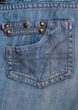 Jeanstaschen gemasert Lizenzfreies Stockfoto