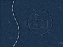 jeanstextur Royaltyfria Bilder