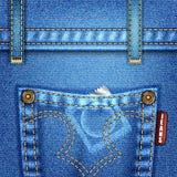 jeanstextur Royaltyfri Fotografi