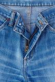 Jeanstexturfragment Arkivfoto
