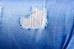 Jeanstextuur als achtergrond, textuur van Denimjeans of achtergrond de de gescheurde van denimjeans met oud De oude jeans van het royalty-vrije stock afbeelding