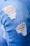Jeanstextuur als achtergrond, textuur van Denimjeans of achtergrond de de gescheurde van denimjeans met oud De oude jeans van het stock afbeelding