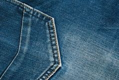 Jeanstextuur met naden stock afbeelding