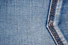 Jeanstextuur met naden Royalty-vrije Stock Foto