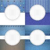 Jeansvektorschablonen-Kartensatz Lizenzfreie Stockbilder