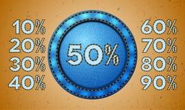 Jeansverkaufs-Prozentkennsatz Lizenzfreie Stockbilder