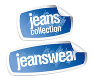 jeanswear αυτοκόλλητες ετικέττ Στοκ Εικόνα