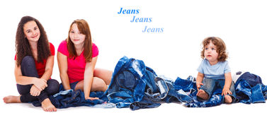 Jeanswear photo stock