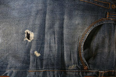 Jeanswear rustic style blue clothes Stock Images