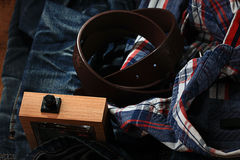 Jeanswear rustic style Royalty Free Stock Image