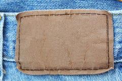 jeansy etykiety Obrazy Royalty Free
