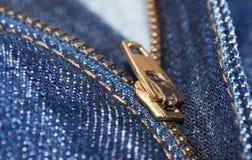jeanszipper Fotografering för Bildbyråer