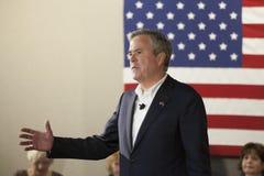 Jeb Bush. BEAUFORT, SOUTH CAROLINA-FEBRUARY 17, 2016: Presidential hopeful Jeb Bush speaks to a town hall meeting in Beaufort, South Carolina Stock Images