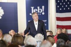 Jeb Bush. BEAUFORT, SOUTH CAROLINA-FEBRUARY 17, 2016: Presidential hopeful Jeb Bush speaks to a town hall meeting in Beaufort, South Carolina Stock Photos