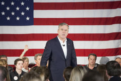 Jeb Bush. BEAUFORT, SOUTH CAROLINA-FEBRUARY 17, 2016: Presidential hopeful Jeb Bush speaks to a town hall meeting in Beaufort, South Carolina Stock Photography