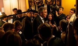 Jeb Bush encontra eleitores em Dôvar, New Hampshire, EUA Imagens de Stock
