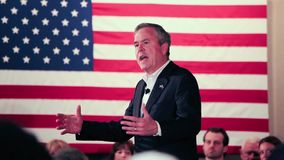 Jeb Bush speaking stock footage