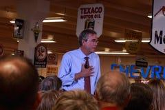 Jeb Bush speaks in Ankeny, Iowa, on August 13, 2015 Stock Photos