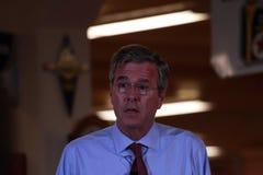 Jeb Bush spreekt in Ankeny, Iowa, op 13 Augustus, 2015 Royalty-vrije Stock Foto's