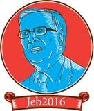 Jeb 2016总统年Drawing 免版税库存照片