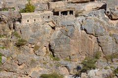 Jebel Akhdar峭壁伊朗议会 免版税库存照片
