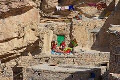 Jebel Akhdar Cliff Hamlet Immagini Stock Libere da Diritti