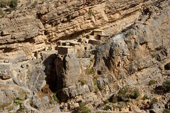 Jebel Akhdar Cliff Hamlet Royalty Free Stock Images