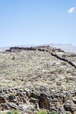 Jebel Akhdar. Image of mountains Jebel Akhdar and blue sky in Oman stock photo