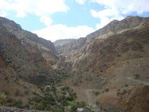 Jebel Akhdar, vaggar, öst, arabia, öknen, Oman, naturen, panorama- berg, himmel, geologi, evolution, banan som är enorm, bergsked arkivfoton